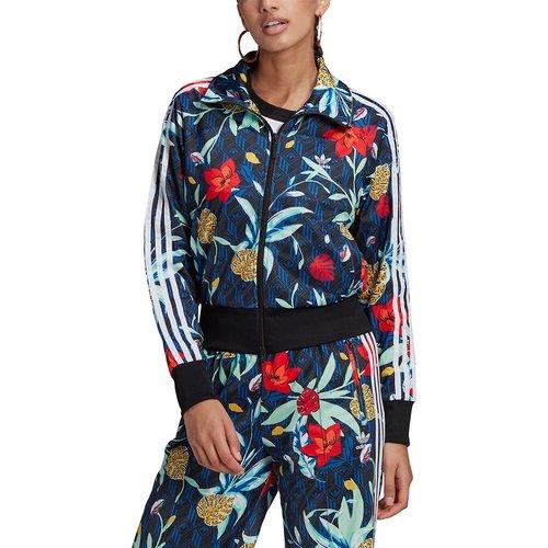 Veste survêtement zippée florale, col montant - adidas Originals - Modalova
