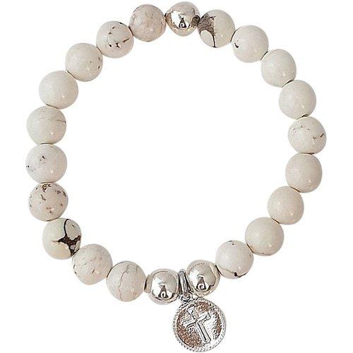 Bracelet pierres howlite marbré Serenity - SECRETS DES ANGES - Modalova