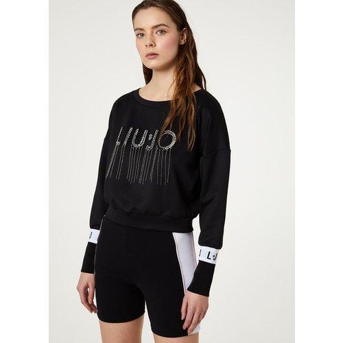 Sweat court avec logo - LIU JO - Modalova