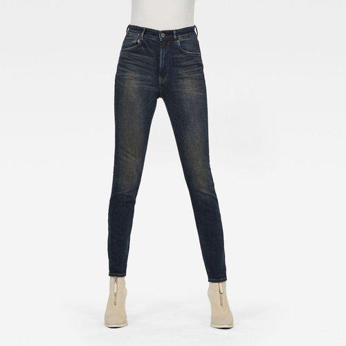 Jean Skinny Taille Haute Brodé - G-Star Raw - Modalova