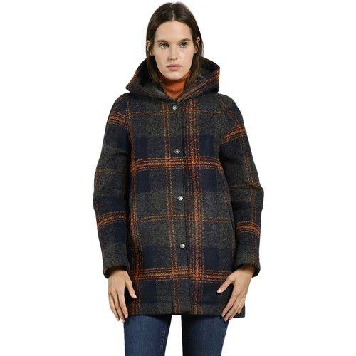Manteau à carreaux oversize avec capuche FOURAS - MAT DE MISAINE - Modalova