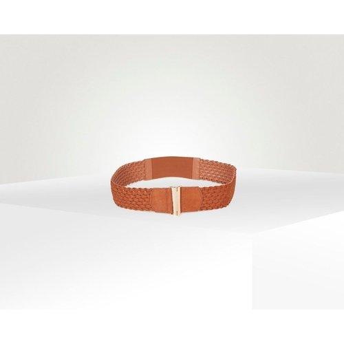 Ceinture large élastique tressée - Naf Naf - Modalova