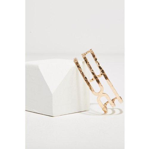 Bracelet manchette martelé - BONOBO - Modalova