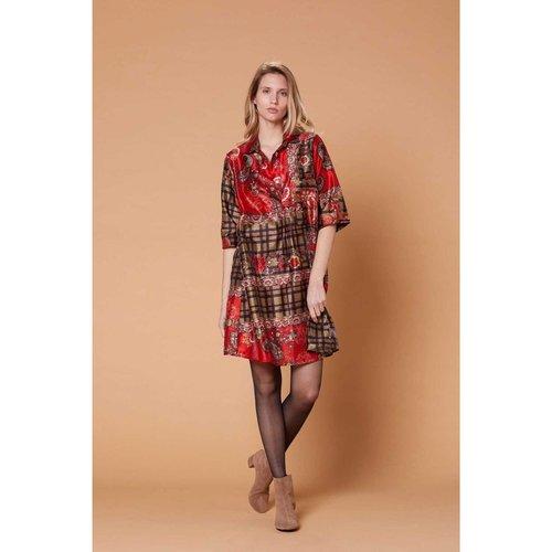Robe tunique col chemise imprimée - Balneaire - DERHY - Modalova