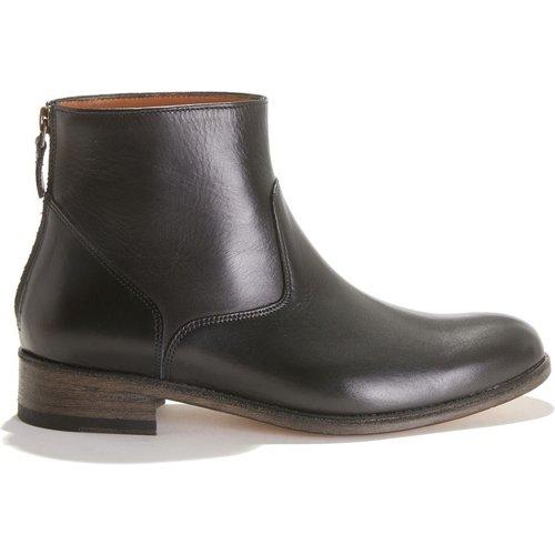 Boots à talon plat en cuir - ANTHOLOGY PARIS - Modalova
