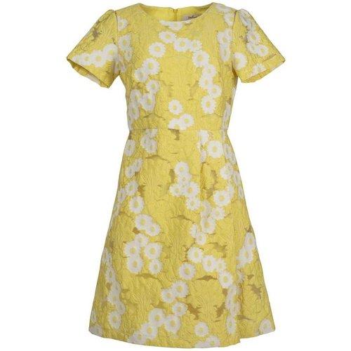 Robe mi-longue bicolore jacquard motifs fleurs - Abbeville - DERHY - Modalova