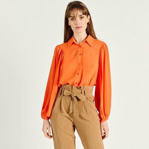 Chemise à manches longues col italien SUSANA - ARTLOVE - Modalova