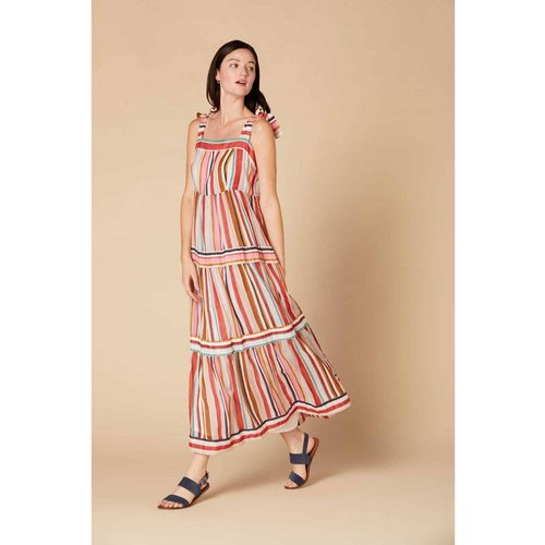 Robe longue coton organique imprimé - Modèle Cabaret - DERHY - Modalova