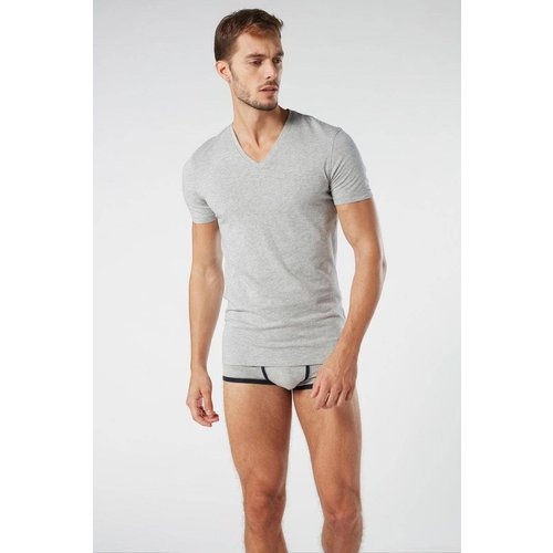 T-Shirt col en v en coton supima® - INTIMISSIMI - Modalova