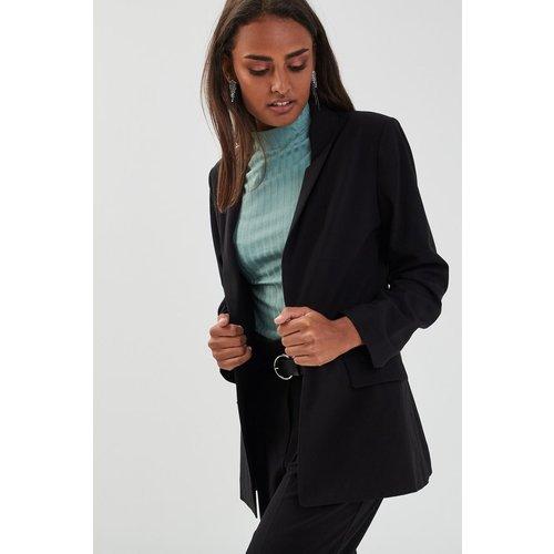 Veste blazer droite col châle - CACHE-CACHE - Modalova