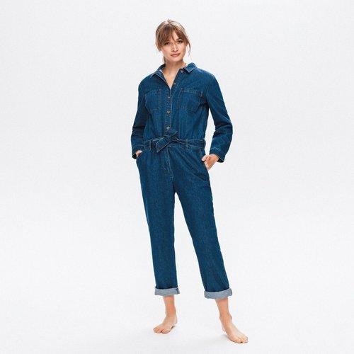 Combinaison-pantalon en jean - Promod - Modalova