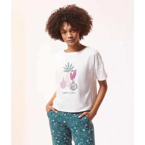 Haut de pyjama t-shirt pyjama imprimé ABEL - ETAM - Modalova