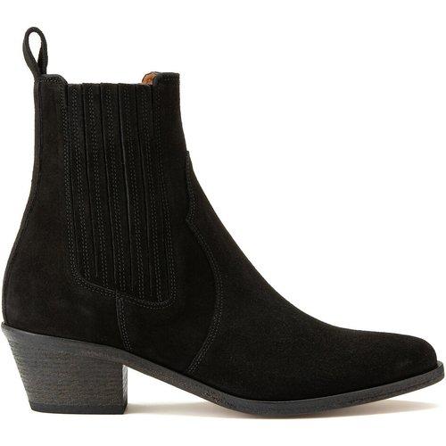 Boots en cuir à talon biseauté SOFIA - ANTHOLOGY PARIS - Modalova