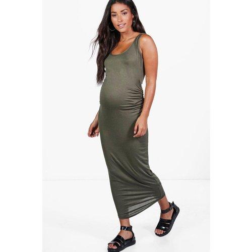 Robe droite de grossesse longue col rond sans manches - BOOHOO - Modalova