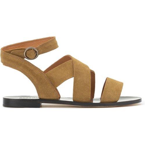Sandales en cuir suède à talon plat GUIDI - SESSUN - Modalova