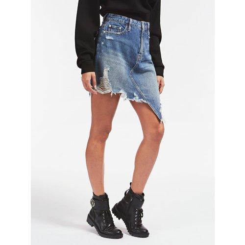 Jupe En Jeans Classique Déchirée - Guess - Modalova