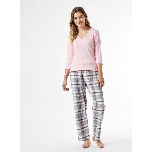 Ensemble de pyjama à col en dentelle, pantalon à carreaux - DOROTHY PERKINS - Modalova