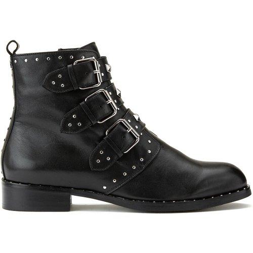 Boots cuir à boucles Galiana - COSMOPARIS - Modalova