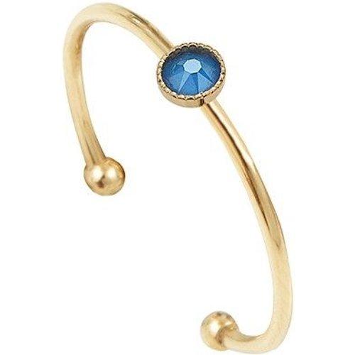Bague plaquée cristal bleu CANCUN - CAROLINE NAJMAN - Modalova