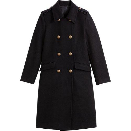 Manteau style militaire drap de laine mélangée - LA REDOUTE COLLECTIONS - Modalova