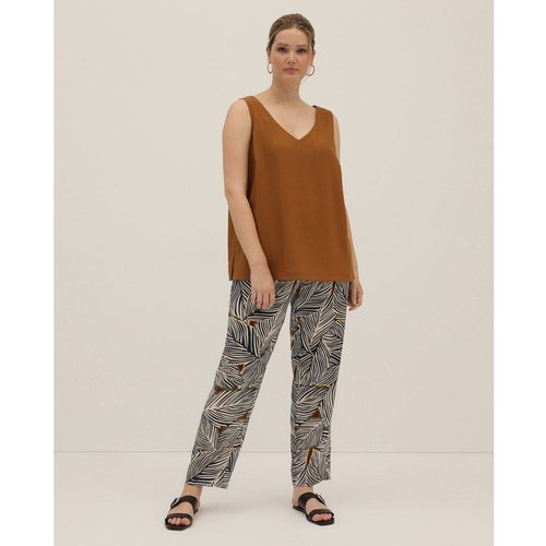 Pantalon cigarette Collection motif feuilles - COUCHEL - Modalova
