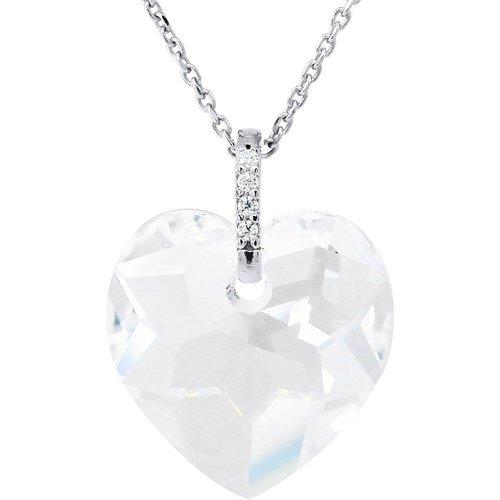 Collier Cristal Swarovski Coeur - ARGENT 925 - LOVE HEART - LOVA - LOLA VAN DER KEEN - Modalova
