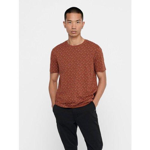 T-Shirt Imprimé coupe slim - ONLY ET SONS - Modalova