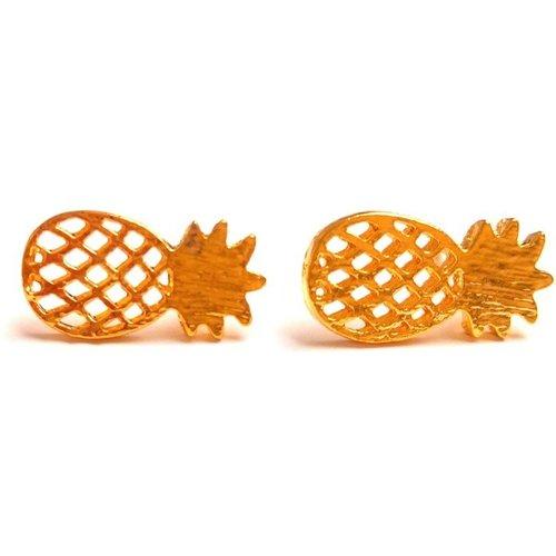 Boucles puces ananas laiton - JUL&FIL - Modalova