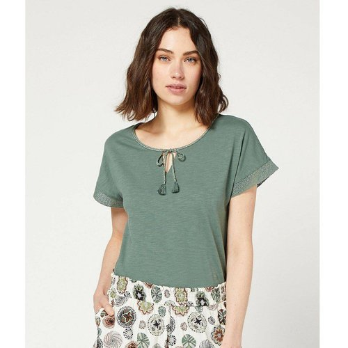 T-shirt de pyjama col à lacets JOSTE - ETAM - Modalova