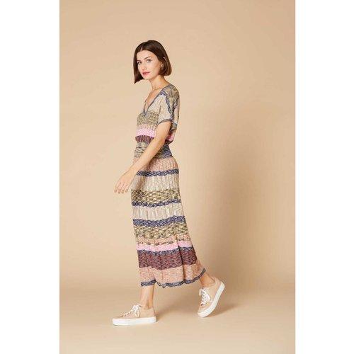 Robe longue en maille chinée - Modèle Yaounde - DERHY - Modalova
