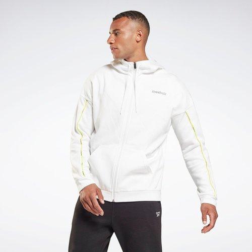 Sweat à capuche zippé Training Essentials Piping-Up - REEBOK SPORT - Modalova