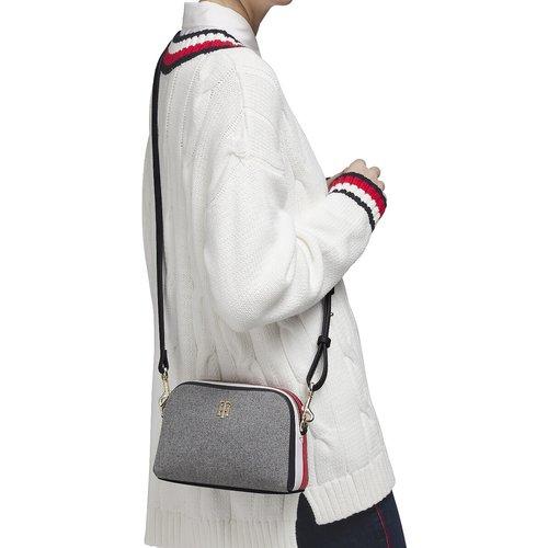 Sac zippé à bandoulière à bande tricolore - Tommy Hilfiger - Modalova