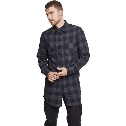 Chemise longue à carreaux - Urban Classics - Modalova