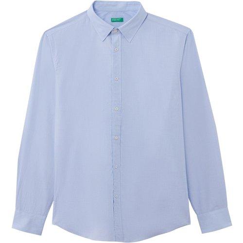 Chemise coupe droite manches longues - Benetton - Modalova