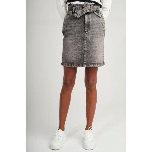 Jupe courte en jean détail ceinture - Naf Naf - Modalova