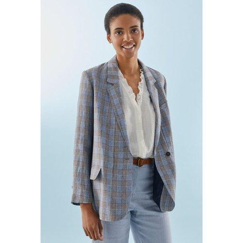 Veste de tailleur en lin à grands carreaux VIOLAINE - PABLO - Modalova