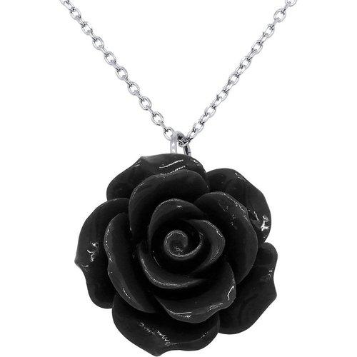 Collier Rose Céramique - ARGENT 925 - ROMANTIQUE - LOVA - LOLA VAN DER KEEN - Modalova