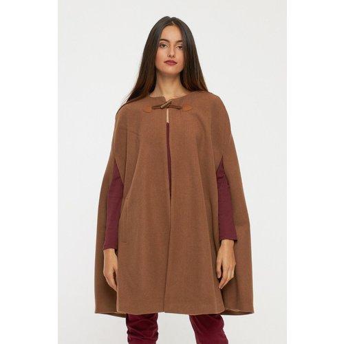 Manteau cape en laine - BEST MOUNTAIN - Modalova