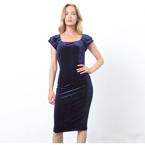 Robe velours ajustée - SMART AND JOY - Modalova