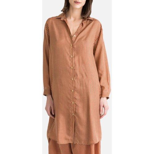 Chemise rayée en soie à manches longues - MES DEMOISELLES - Modalova