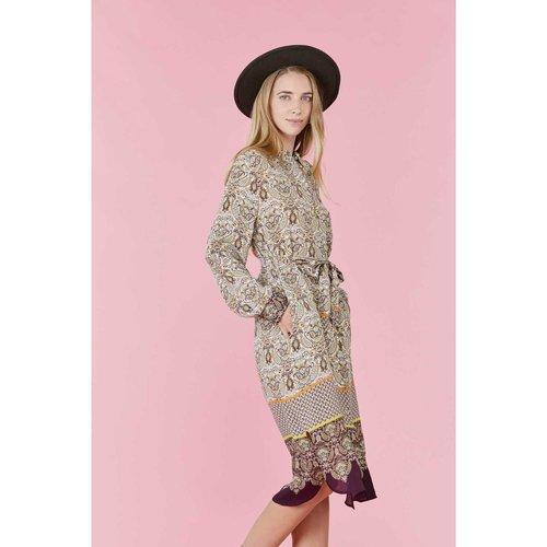 Robe chemise longueur genou en crêpe de - Suffren - DERHY - Modalova