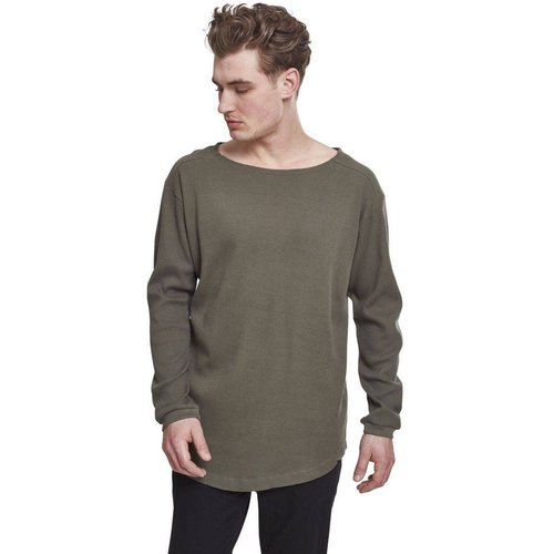 T-shirt long gaufré à manches longues - URBAN CLASSICS - Modalova
