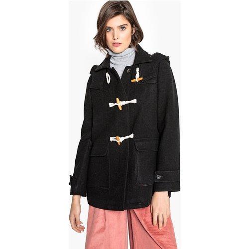 Duffle-coat à capuche, laine mélangée - LA REDOUTE COLLECTIONS - Modalova