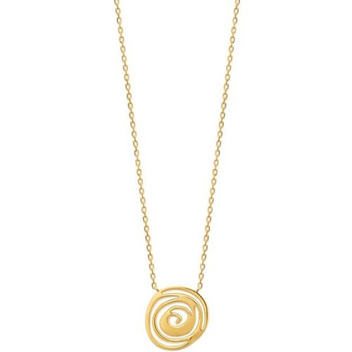 Collier fantaisie spirale plaqué or BELLA - BIJOUX PRIVES DISCOVERY - Modalova