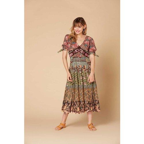 Robe midi imprimée avec Fil textile - Modèle Caracole - DERHY - Modalova