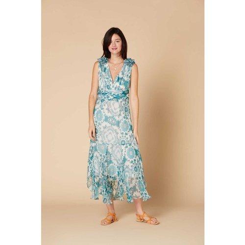 Robe longue à imprimé batik - Modèle Cahier - DERHY - Modalova