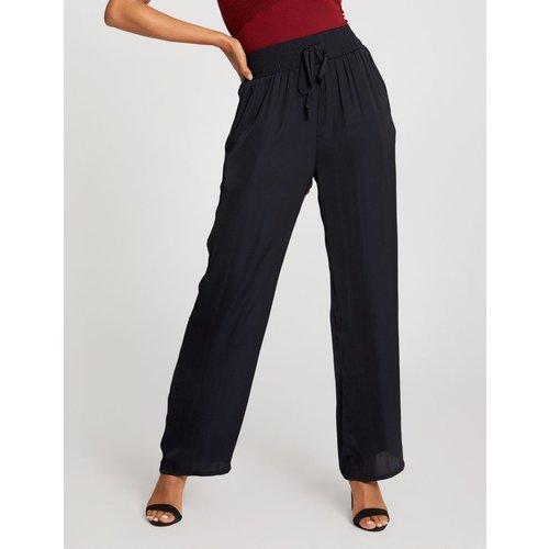 Pantalon droit taille haute élastiquée - Morgan - Modalova