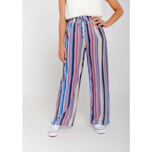 Pantalon fluide multicolore - LOLALIZA - Modalova