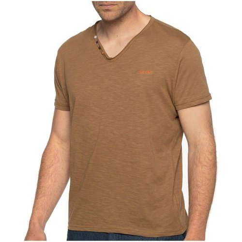 T-shirt col v boutons manches courtes - SHILTON - Modalova