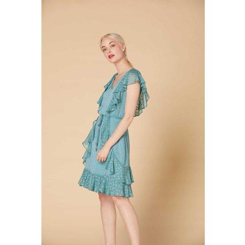 Robe courte à pois Fil textile - Modèle Accusation - DERHY - Modalova
